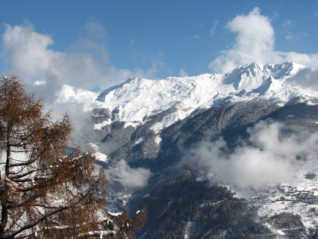A breathtaking view of the Alps